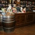 Custom Cash wrap with wine barrel tabletop