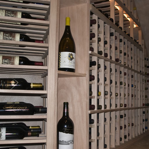 White Wine Cellar : Custom wine cellars chicago illinois under staircase project