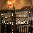 Commercial Wine Racks | Half Height with Tabletop and Glass Racks with split Racks between