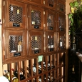 Commercial Wine Racks Slidell Louisiana Lockers with Magnum rack below