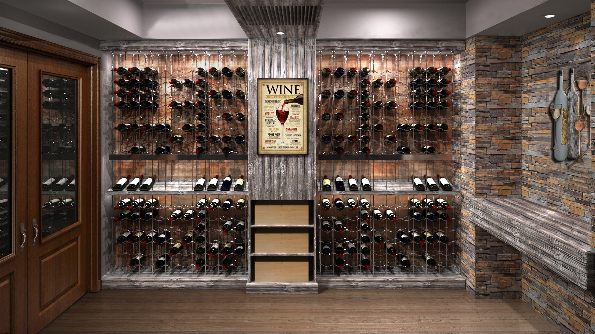 Wine cellar specialists cable wine systems Cellar designs