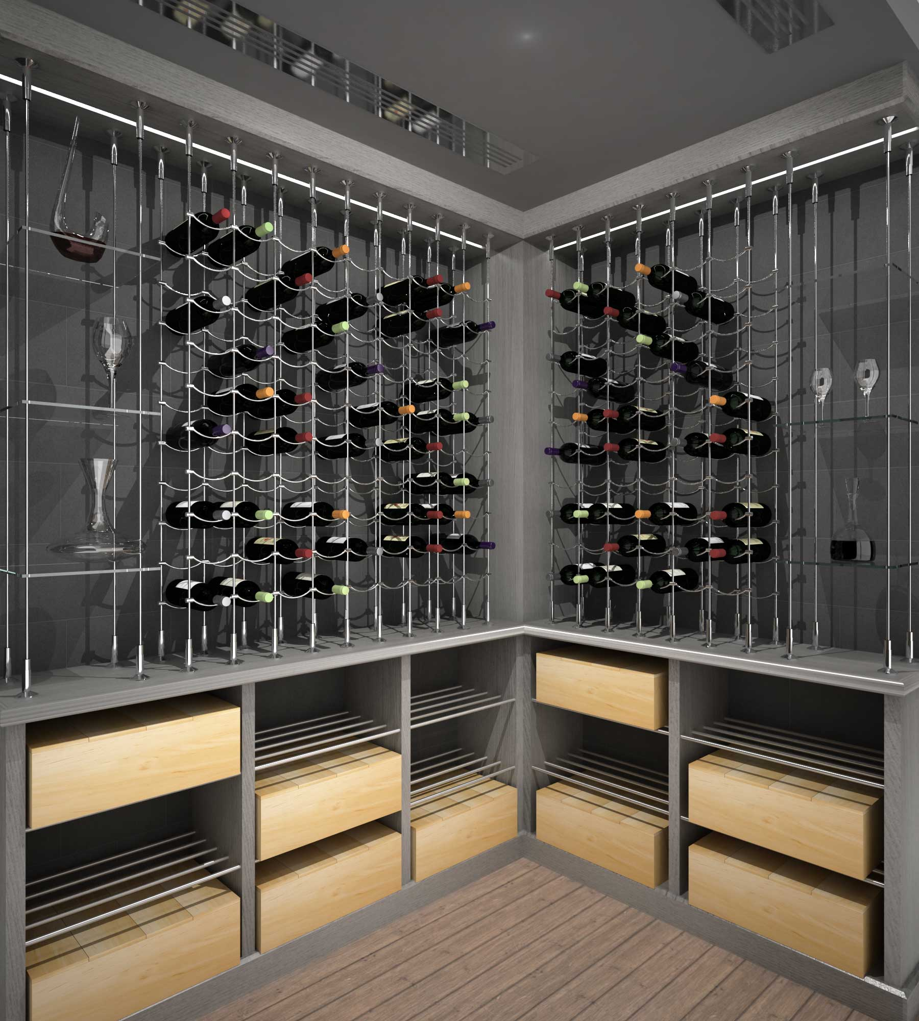 Le Cache Wine Cabinet Cable Wine Systems