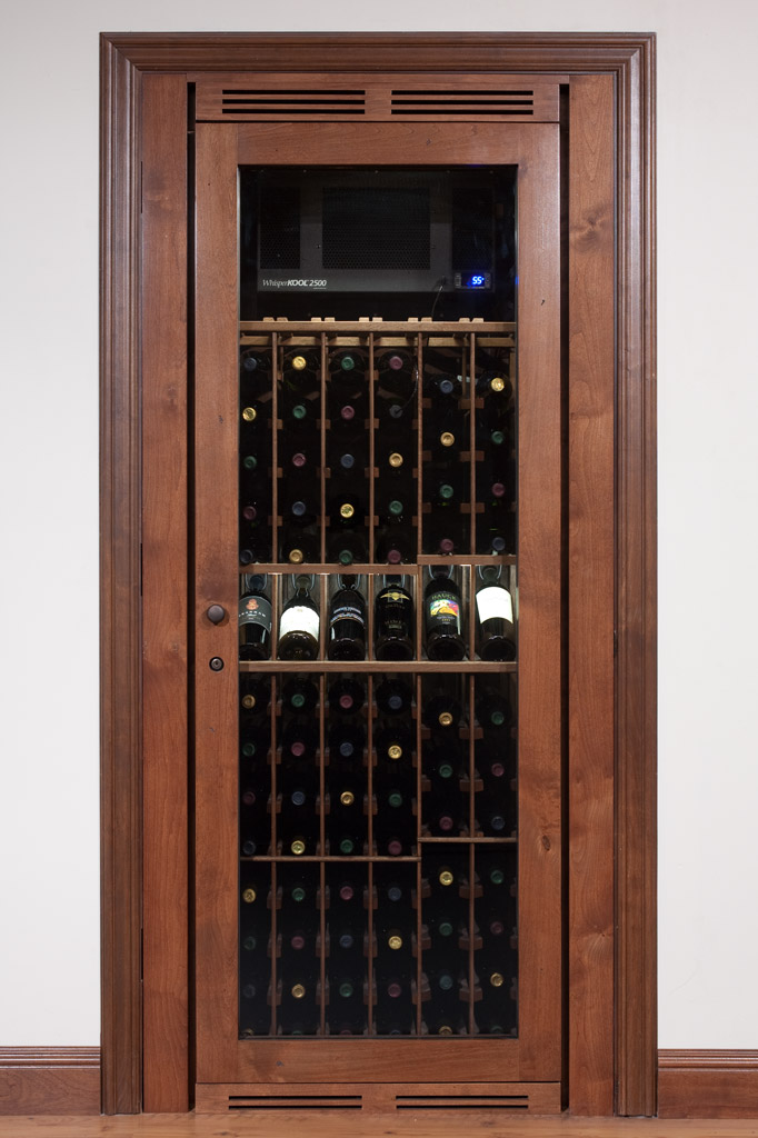 The wine closet cabinet by vinoth que Turn closet into wine cellar