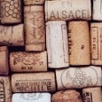 Wine Corks with Location Emblems - Mural