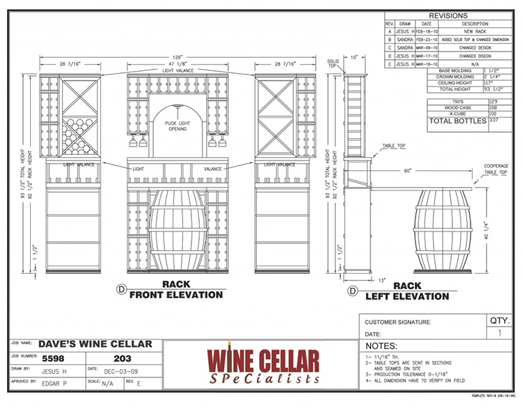 New custom wine cellars chicago illinois palos heights for Wine cellar plans