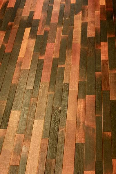 reclaimed wine barrel flooring and tabletops. Black Bedroom Furniture Sets. Home Design Ideas