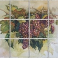 Burgundy Grapes by Erin Dertner