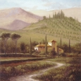 Mural Painting of Home and Vineyard