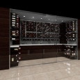 Stunning wine displays can be created using the Wine Wall System