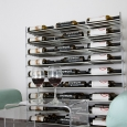 Steel Rods and Acrylic Sides Evolution Series Wine Racks