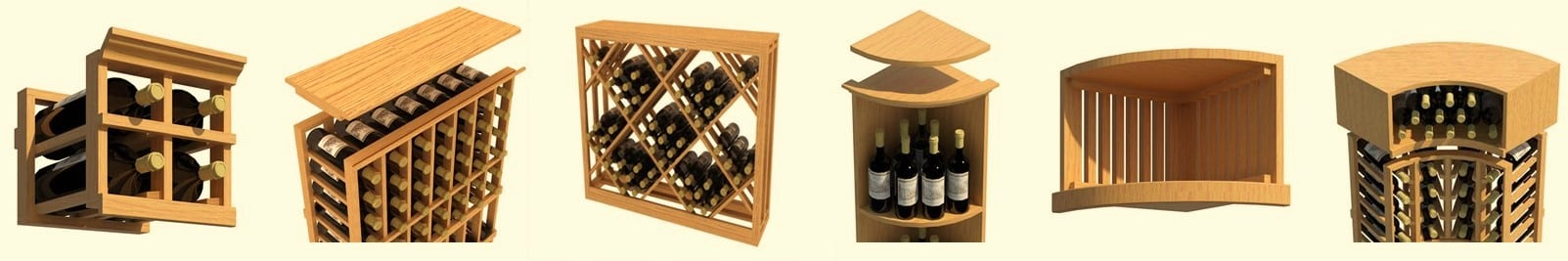All About Modular Wood Wine Racks Kits Double Deep Stackable Custom Commercial wc