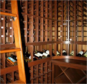 25. Chevis Custom Wine Cellar with Rolling Ladder