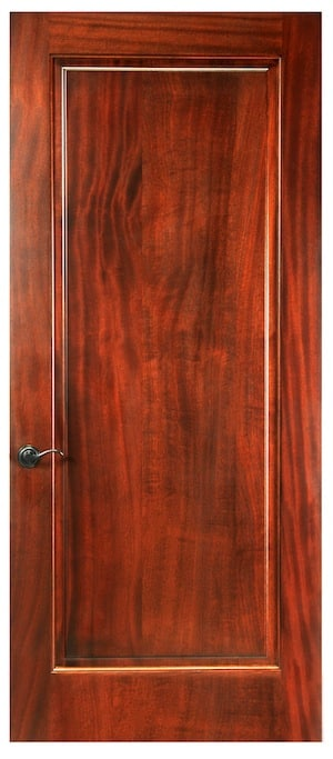 A solid wood door which will give you the best insulation for a wine cellar door. Square or arched designs available.