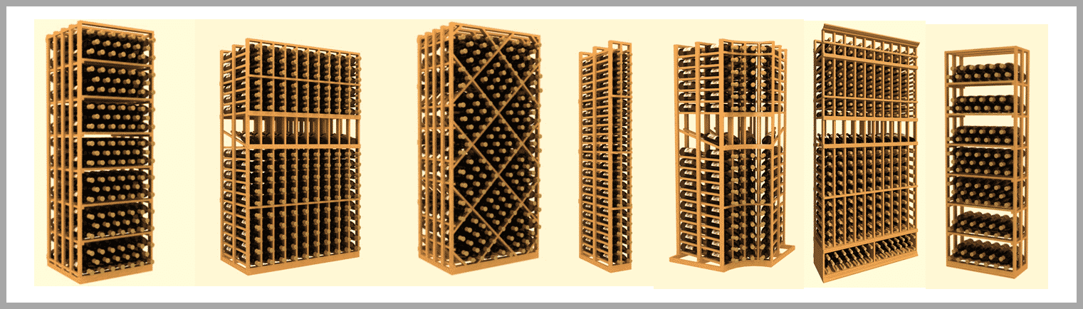 Wine Racks - Wooden Wine Racks, Custom Wine Racks, Wall Mounted