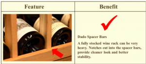 Dallas Texas wine rack dado spacer bar