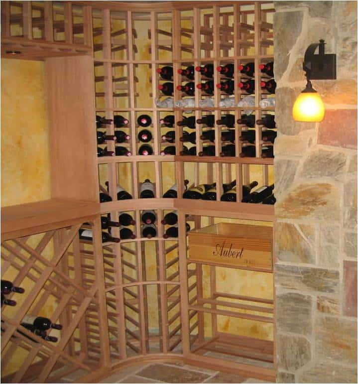 Dallas Texas wooden wine racks