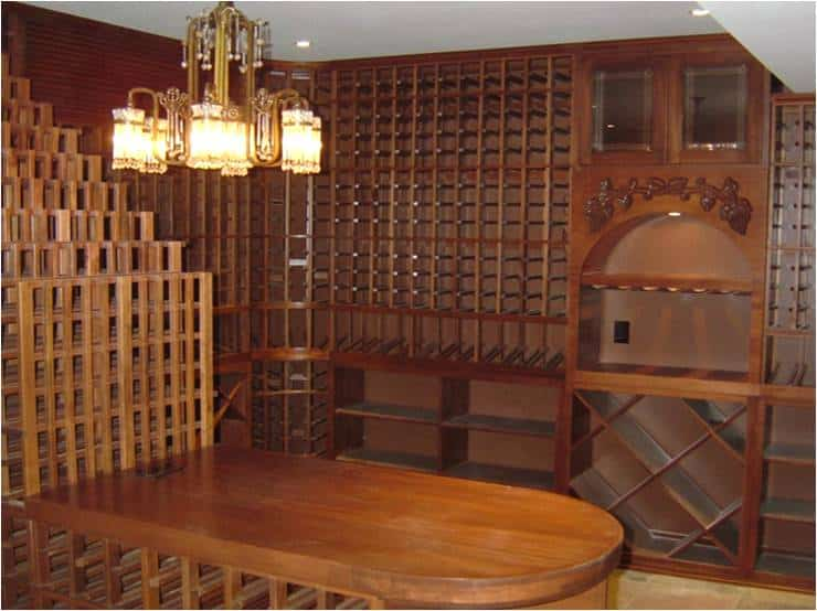 Texas home wine cellar