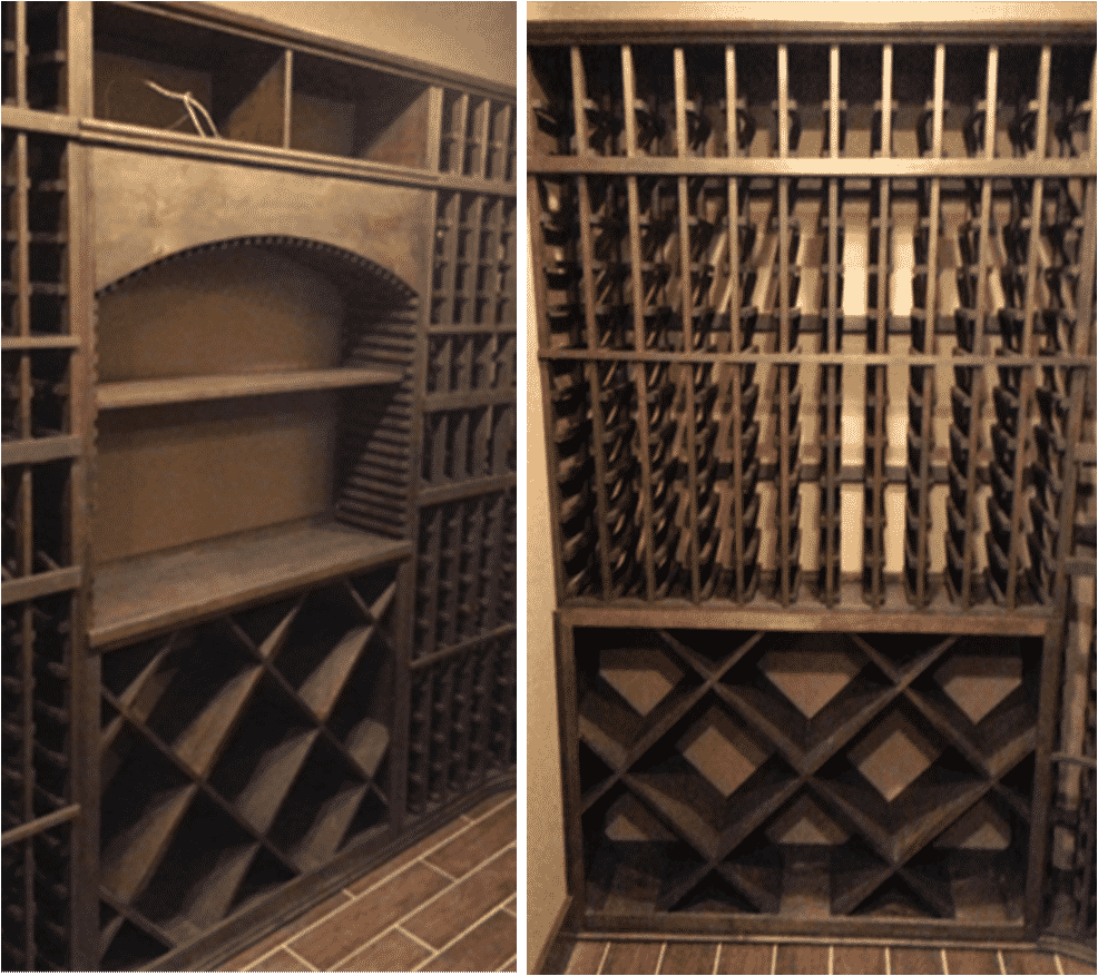 Texas wine cellar racking system on a budget