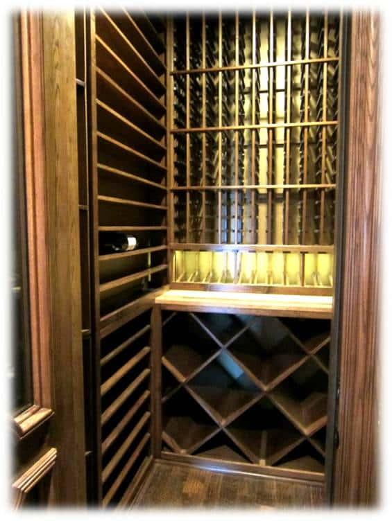 Texas wine cellar racking