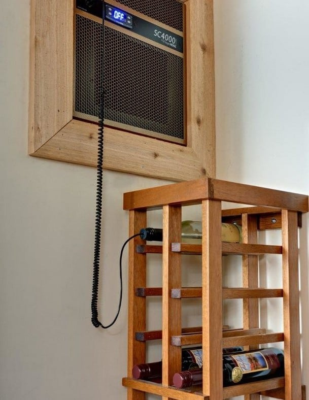 wine cellar cooling system by Wine Cellar Specialists Texas Builder