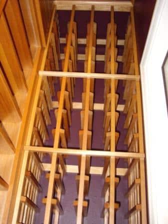 Lacquered Mahogany Wine Storage Racks