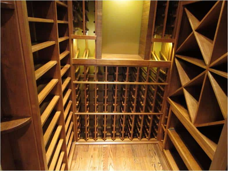 Texas wooden wine rack system