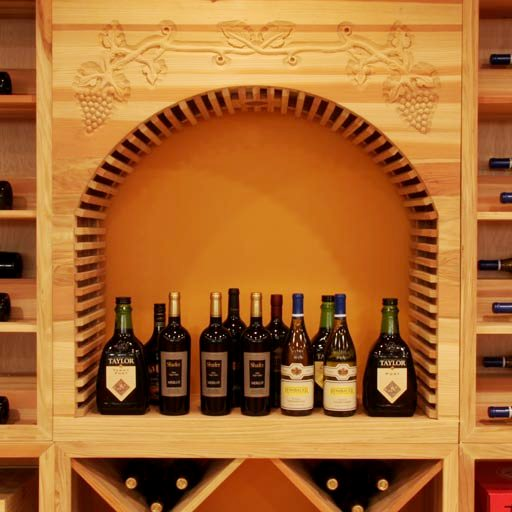 Wooden Wine Rack System Made from Premium Redwood