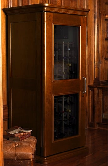 For those who prefer a traditional European-style wine cabinet, this series by Le Cache is gorgeous.