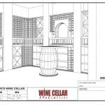 Custom Wine Cellars Chicago Design Drawing Barrel Dave