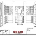 Custom Wine Cellars Chicago Illinois Design 3D Drawing Dave