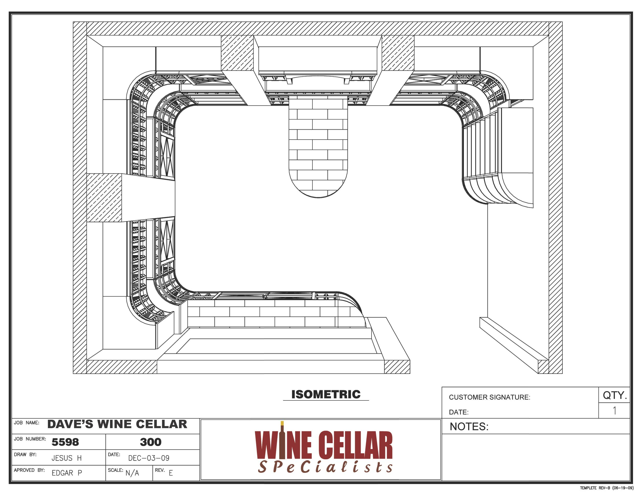 wine cellar racks plans