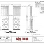 Custom Wine Racks Chicago Illinois Design Drawing Elevation Dave