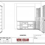 Residentail Custom Wine Racks Chicago Illinois Design Drawing 3D Dave