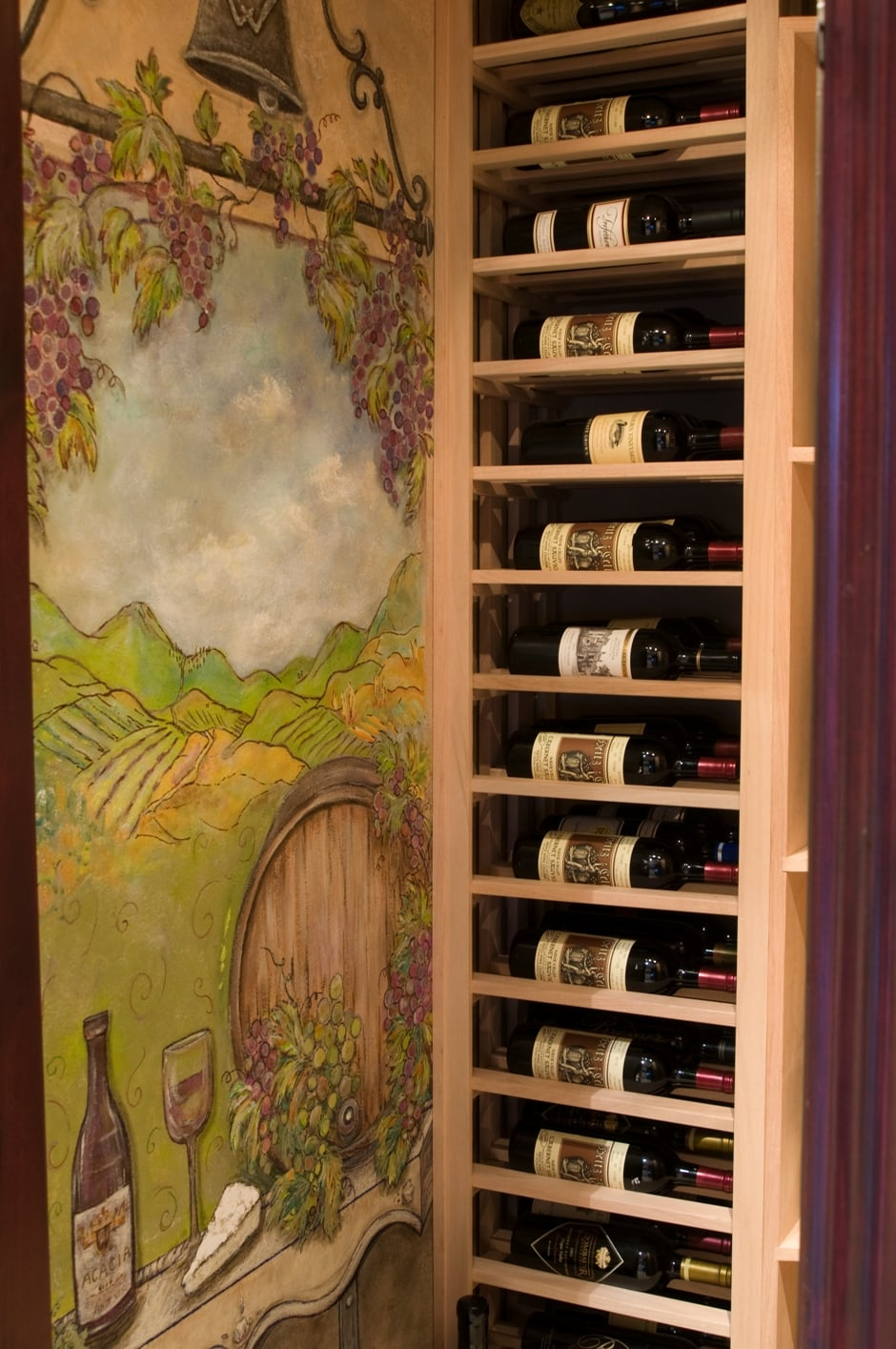 Le Cache Wine Cabinet Custom Wine Cellars Chicago Illinois Under Staircase Project
