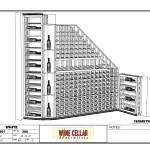 Custom Wine Rooms Chicago Illinois Horizontal Label Forward Shallow Racking Drawing