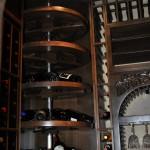 Dallas Fort Worth Custom Wine Cellars - Westlake TX - corner rotating circular wine rack