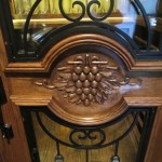 Designing & Building the Lyles Custom Wine Cellar - McKinney Nr Dallas, Texas - Close up of hand carved grapevine design