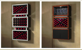 Contemporary Wall Mounted Wine Racks