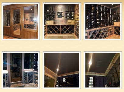 Kit Wine Racks - Combination of Metal and Wooden Wine Racks in Premiu Redwood