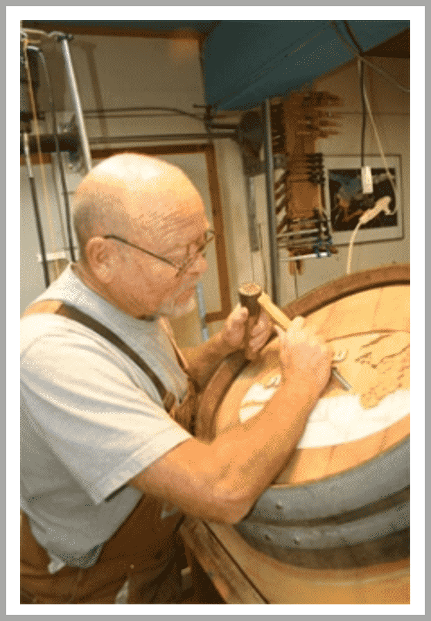Peter Forbes - A Talented Wine Barrel Carving Artist
