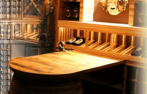 wine barrel table top barrel wine cellar designs