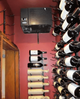 CellarPro Wine Cellar Cooling Unit on the Left Wall