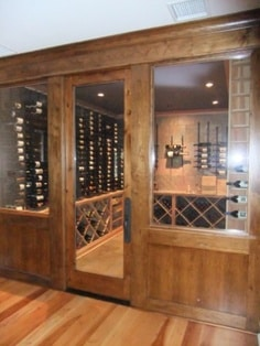 Glass Wine Cellar Doors - Wood's Wine Cellar Project