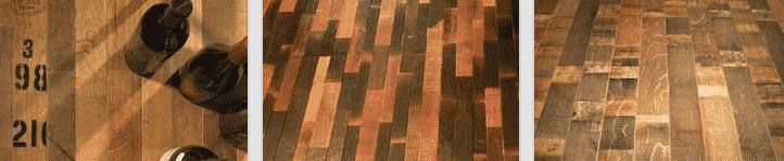 Reclaimed Wine Barrel Flooring for a Unique Wine Cellar Design
