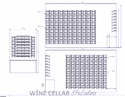 VintageView Metal Wine Racks - Plan View