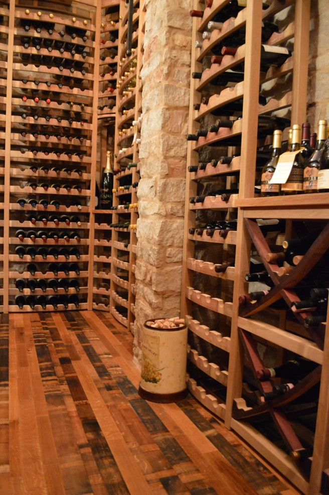 Residential Wine Cellars - Curved X Bins - Naples Project