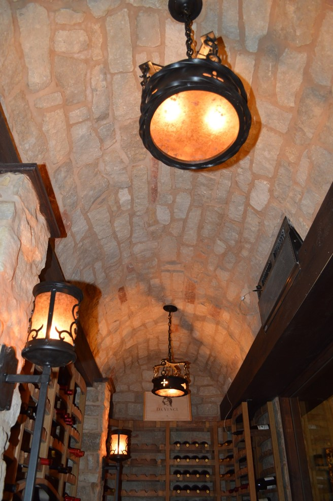 Residential Wine Cellars - Lighting and Ceiling - Naples Project