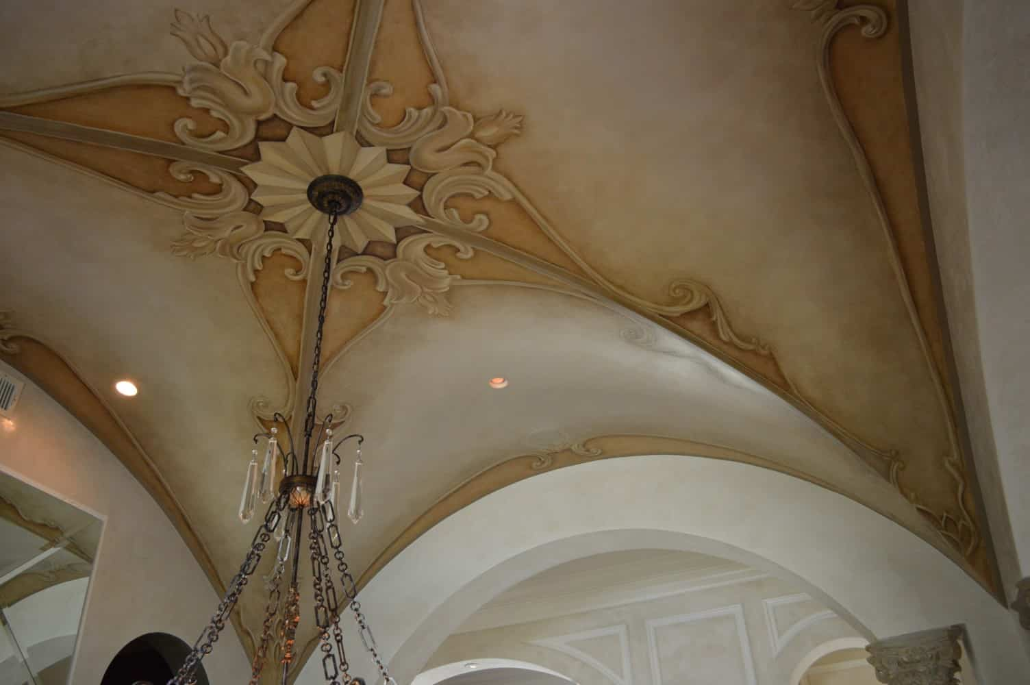 The Attention to Detail is Astounding Ceilings - Wine Cellar Naples