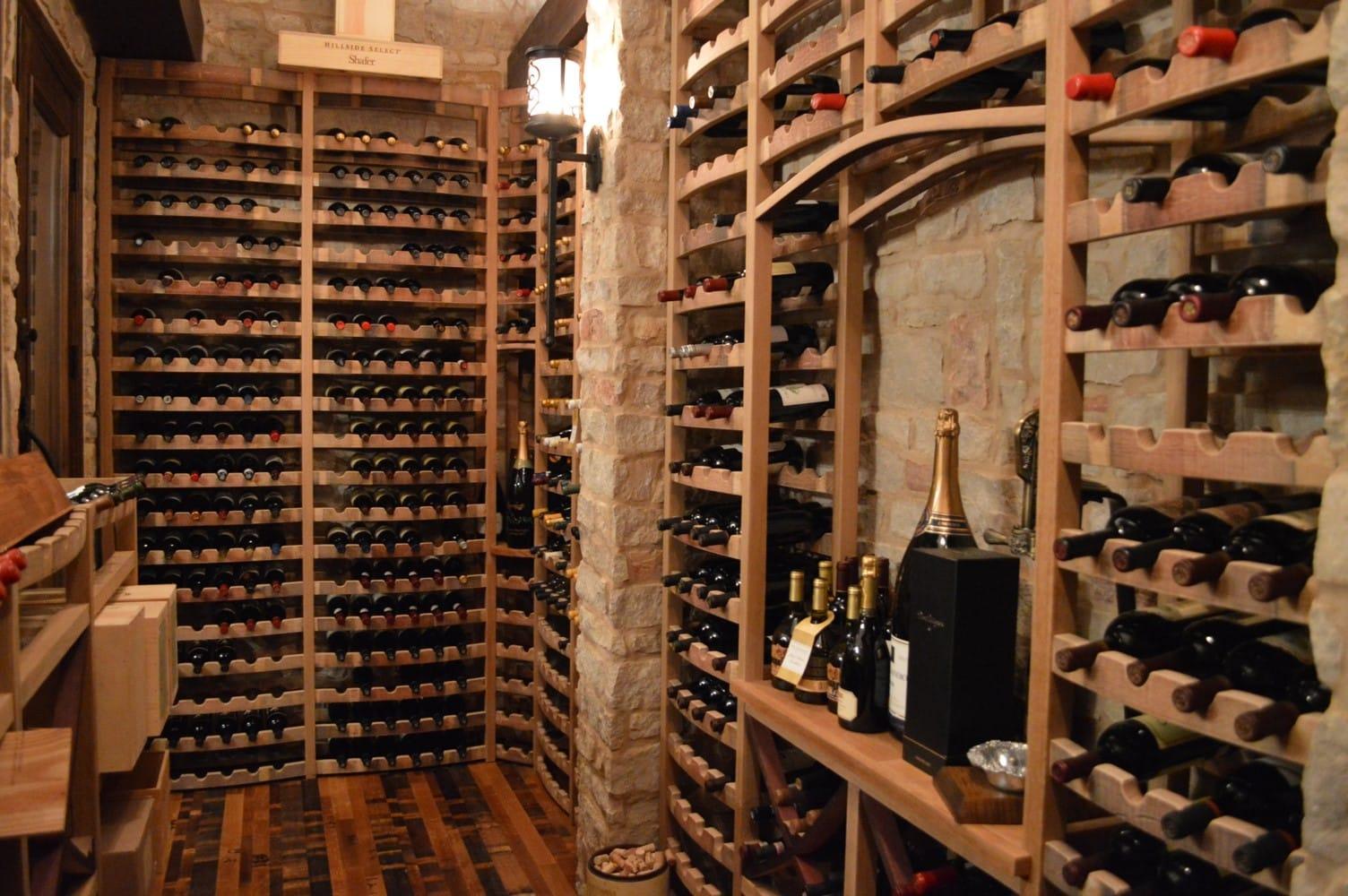 Wine Barrel Wine Racks Curved - Naples Florida Project