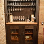 Wine Tasting Room includes a Glass Display Rack and Humidor